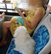 女子带宠物狗坐车坐座位 称狗狗