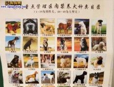 城市禁养犬种名单:辽宁省鞍山市