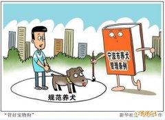 """浙江宁波立法""""管好宠物"""