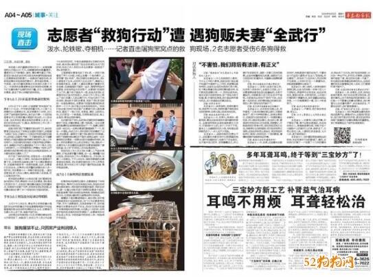 """青岛志愿者""""救狗行动""""遭狗贩夫妇过激反抗被带走"""