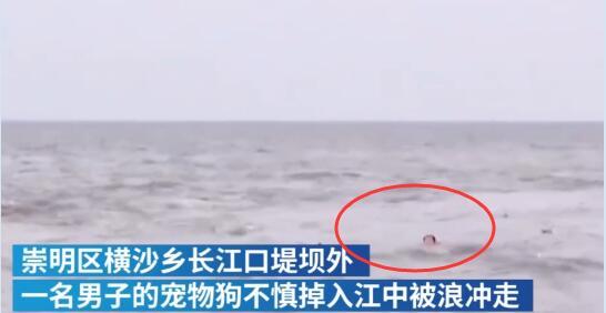 上海一男子为救宠物狗跳入江中被越冲越远!